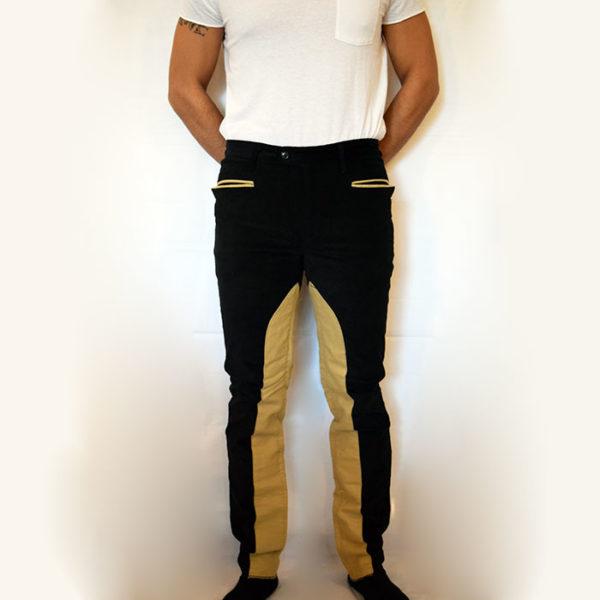 Pantaloni fantino velluto liscio elastico