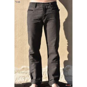 pantalone in fustagno di cotone grigio con tessuto visconti di modrone