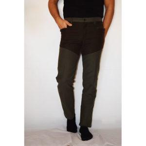 Pantalone bicolore fustagno verde/marrone