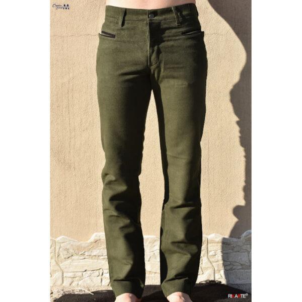 pantalone verde in fustagno modello sardo