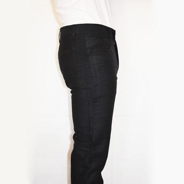 Pantalone Fustagno scamosciato nero zip