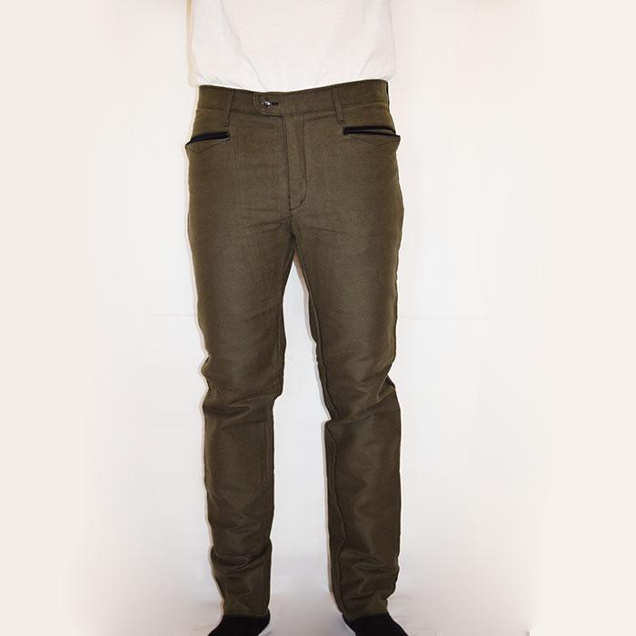 Sardo Fustagno Vellusar Pantalone Scamosciato Zip Verde Abbigliamento fBwCqn1