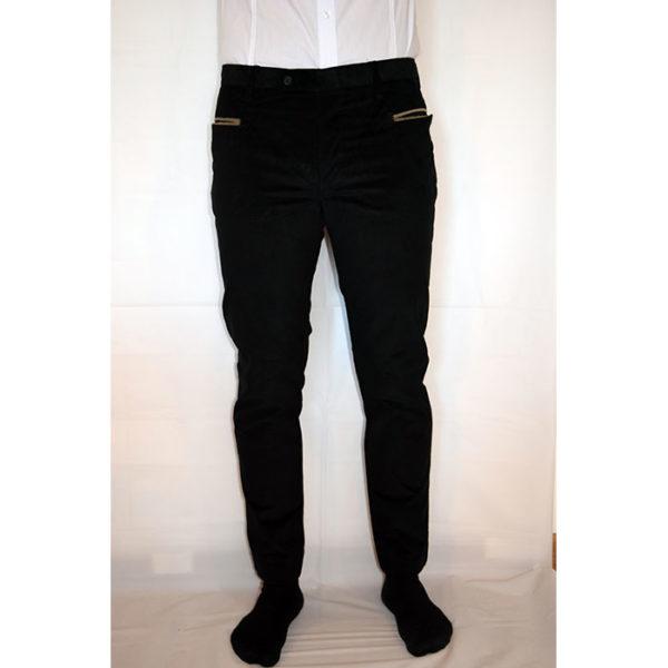Pantaloni velluto visconti elastico bottoni