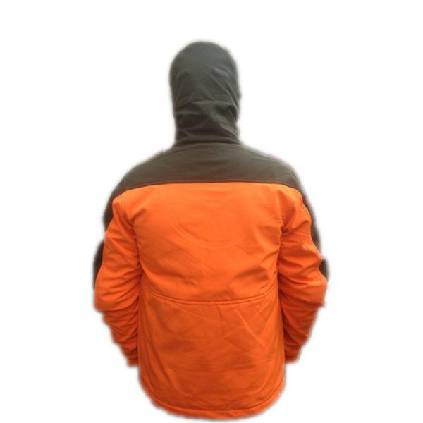 giacca softshell antivento foto visione del retro