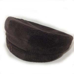 cappello tipico sardo in velluto marron realizzato dal berrettificio giovanni demurtas