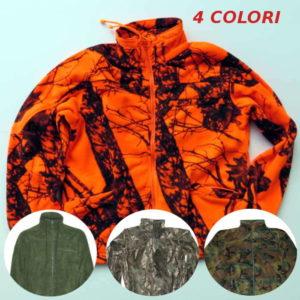 felpa in caldo pile in 4 colori diversi verde,mimetico e alta visibilità