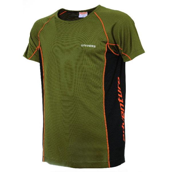 maglietta manica corta con profili arancioni