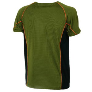 t-shirt tecnica univer verde arancio