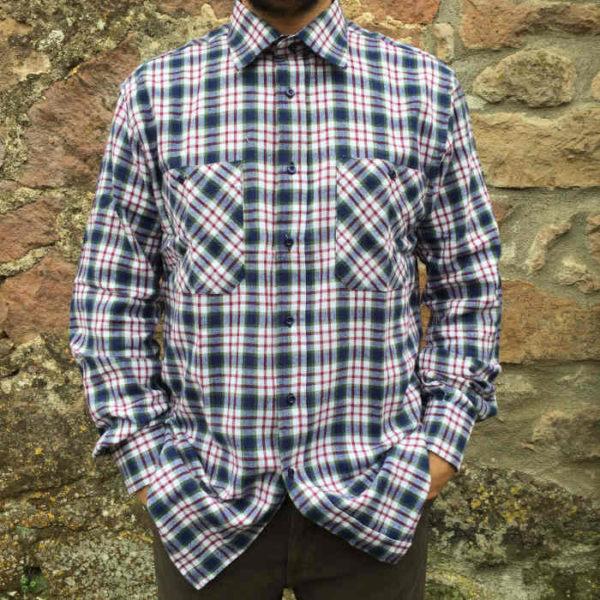 camicia uomo flanella quadri