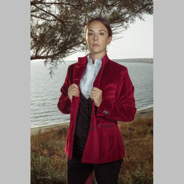 giacca velluto tedesco bordeaux donna