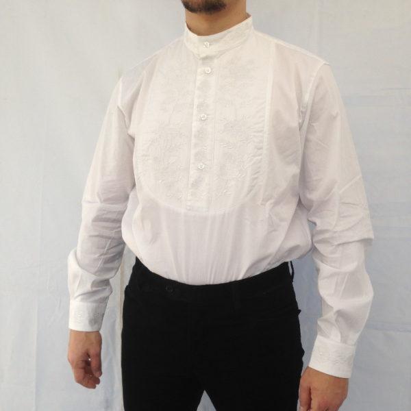 camicia uomo tradizionale sarda con ricamo