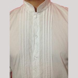 camicia uomo ricamata a mano
