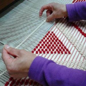 tessitura tappeto sardo