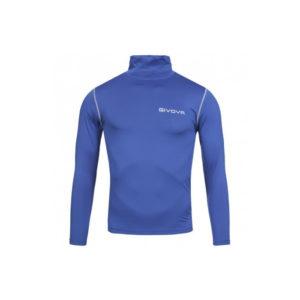 maglia termica collo alto givova blu