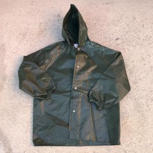 giacca incerata con cappuccio e cuciture termosaldate