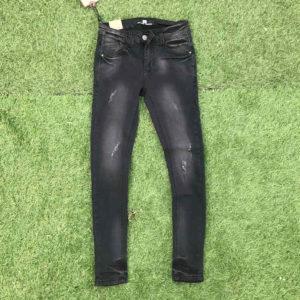 jeans da uomo elasticizzati stretch taglia 40 nero scolorito