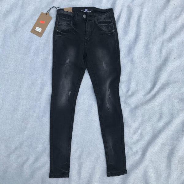 jeans da uomo elasticizzato taglia 42 nero scolorito grigio