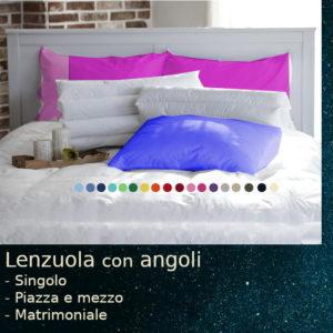 lenzuola con angoli in cotone di tanti colori
