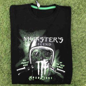 maglietta Monster manica lunga in cotone taglia m