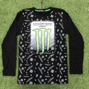 maglietta maniche lunghe in cotone marca monster