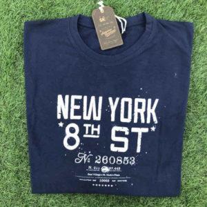 maglietta manica lunga in cotone con stampa sul petto