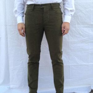pantalone in fustagno elasticizzato visconti verde