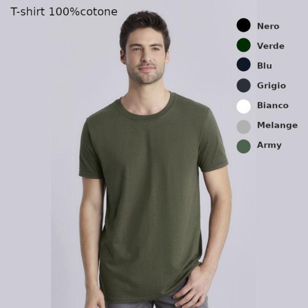 t-shirt in cotone da uomo