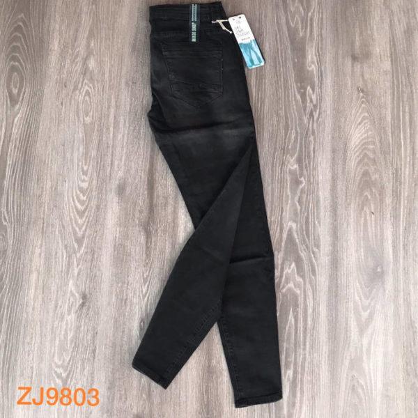 jeans da uomo elasticizzato nero zj9803