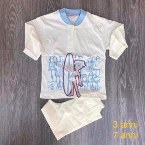 pigiama bimba 3-7 anni in cotone made in italy