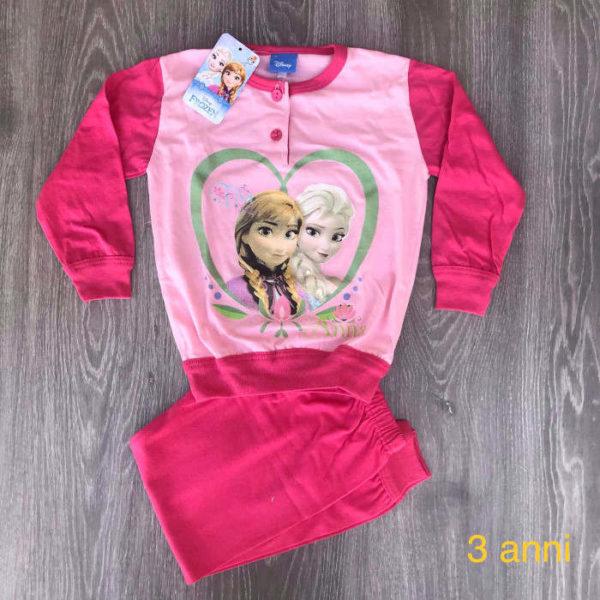 pigiama da bambina in cotone primavera estate made in italy 3 anni