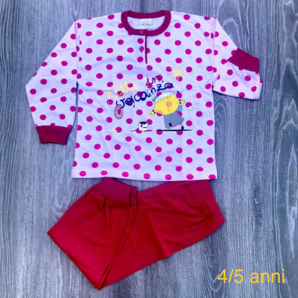 pigiama da bambina in cotone art. 290003