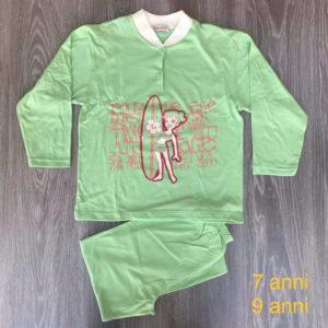 pigiama da bambina in cotone primavera-estate 7-9 anni barbie verde