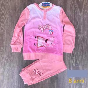 pigiama bimba manica lunga 8 anni peppa pig