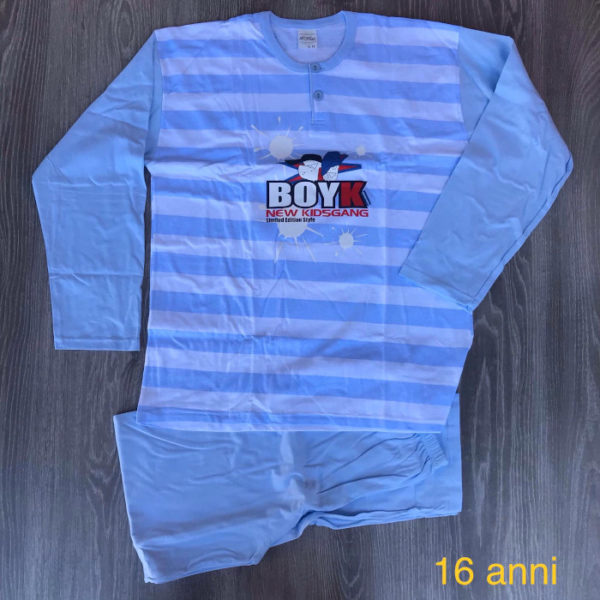 pigiama da bambino in cotone primavera estate made in italy 16 anni