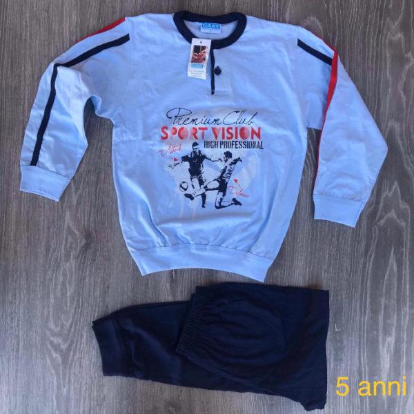 pigiama da bambino in cotone primavera estate made in italy