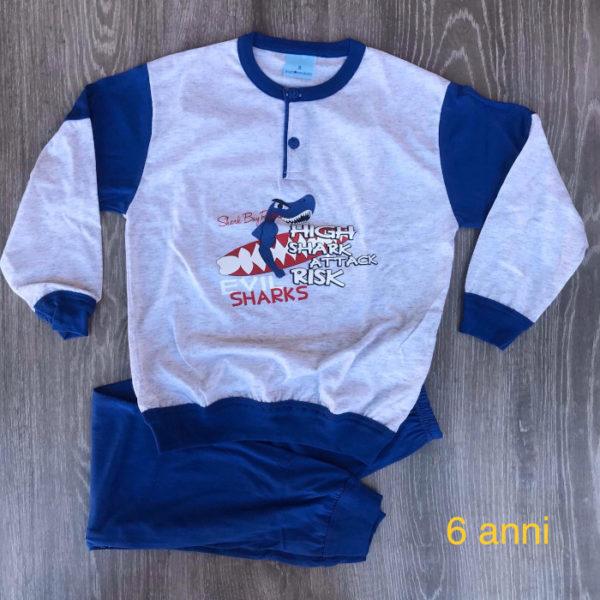 pigiama da bambino in cotone primavera estate made in italy art. 204