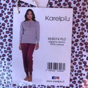pigiama lungo in cotone da donna marca karel